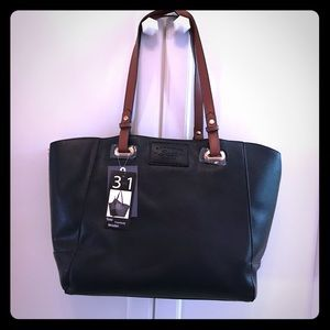 Bass Black Leather 3 in 1 Tote